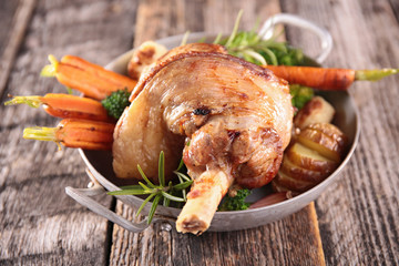 lamb chop and vegetable