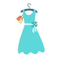 Summer dress hanger price tag
