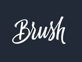 Brush hand lettering. Vector illustration