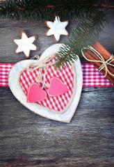 Weihnachtskarte - Karo Herz