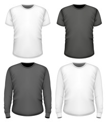Men t-shirt short and long sleeve