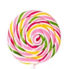 rainbow lollipop closeup