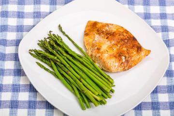Asparagus with Baked Salmon