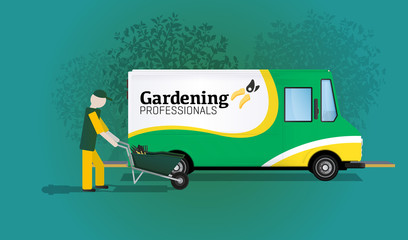 Delivery Truck Gardening