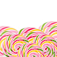 candy background with a retreat for text