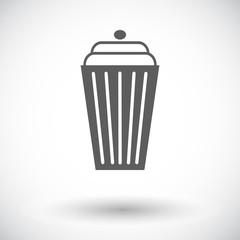 Basket single icon.
