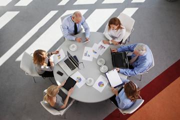 Sales team at work
