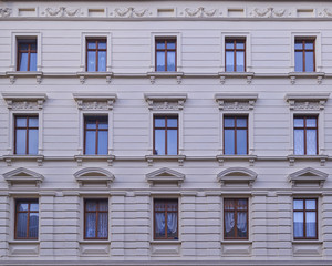 renovated old building facade, Altenburg, Germany