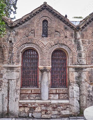 Fotobehang Athene Athens, Greece, Panaghia Kapnikarea medieval church detail