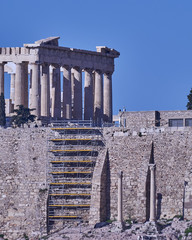 Athens, Greece, Parthenon ancient temple on Acropolis hill