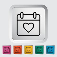 Calendar with heart