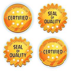 Cartoon Gold Premium Quality Seals