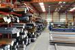Leinwandbild Motiv Industriehalle eines Stahllagers