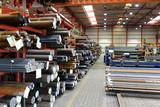 Industriehalle eines Stahllagers