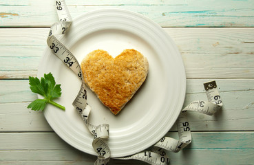 Healthy heart toast