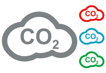 Pictograma CO2 en varios colores