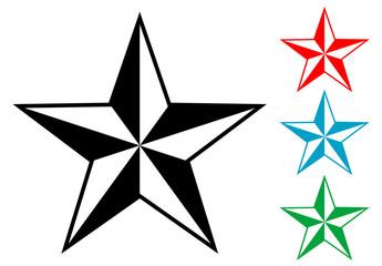Pictograma estrella en varios colores