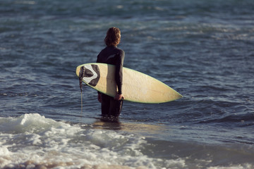 Waiting for a big wave
