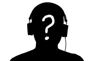 Unknown man listen the music