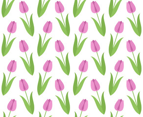 Floral pattern. Tulip