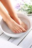 Relaksacyjna kąpiel stóp, chwila wytchnienia