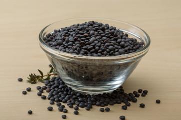 Black lentils