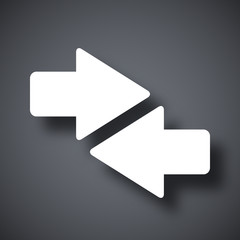 Vector both direction arrows icon