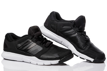 Black sport shoes