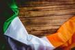 Ireland flag on wooden table - 80310522