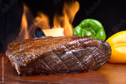 Fotobehang Klaar gerecht Picanha, brazilian barbecue