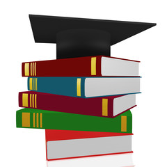 Books with doctoral cap
