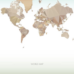 Earth World Map. Low poly vector illustration