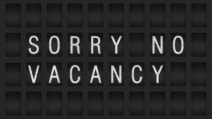 Amzeigetafel No Vacancy