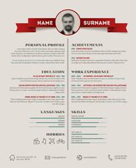 Original cv / resume template