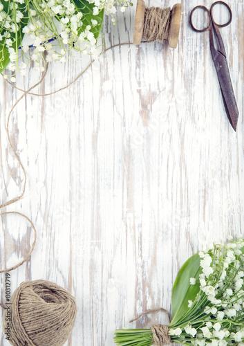 Foto op Plexiglas Lelietje van dalen Lily of the valley flowers