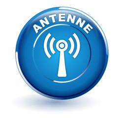 antenne sur bouton bleu