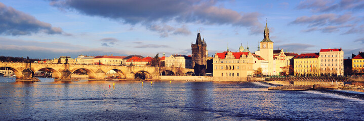 Panoramic view of old town Prague, Czech Republic