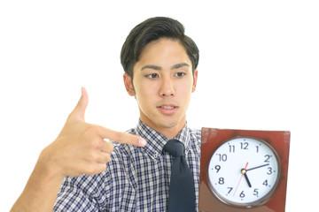 時計を持つビジネスマン