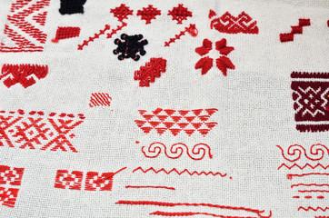 Cloth with diverse kinds of handmade embroidery