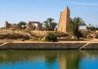 Sacred lake of Karnak temple in Luxor