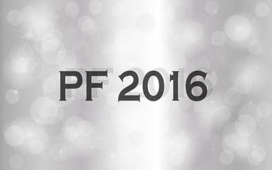 PF 2016. Happy new year greeting card.