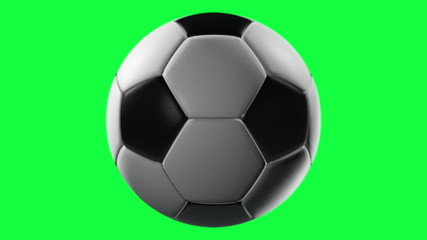 Soccer Ball, loop seamless, isolated on green screen