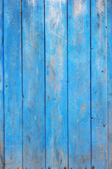 Blue Painted Wooden Boards