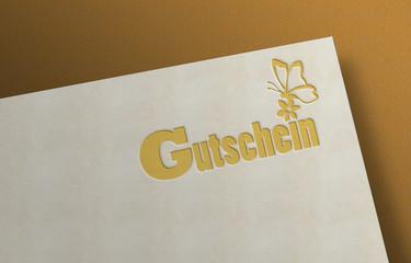 Gutschein - Schmetterling - Briefbogen