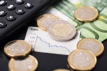Niedriger Kurs des Euro