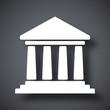 Vector bank building icon - 80315148