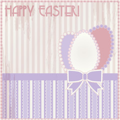 Happy Easter vintage card, vector illustration