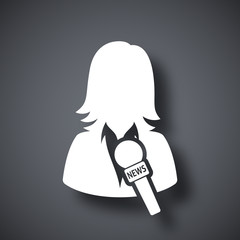 News reporter icon, vector