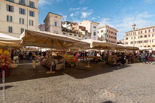 Canvas Rome Roma Mercato a Campo dei Fiori