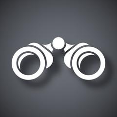 Vector binoculars icon